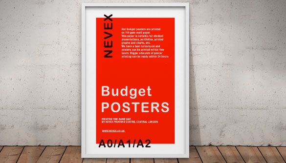 same day budget posters London