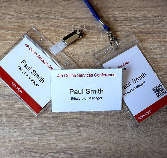 personalised name badges and name cards