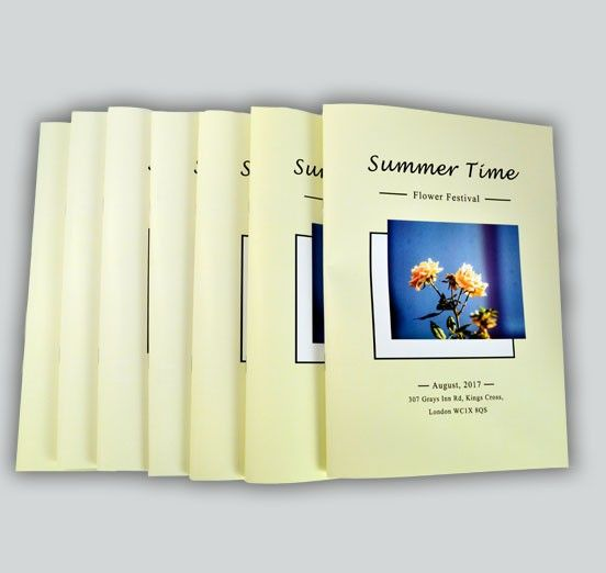 same day order of service booklets