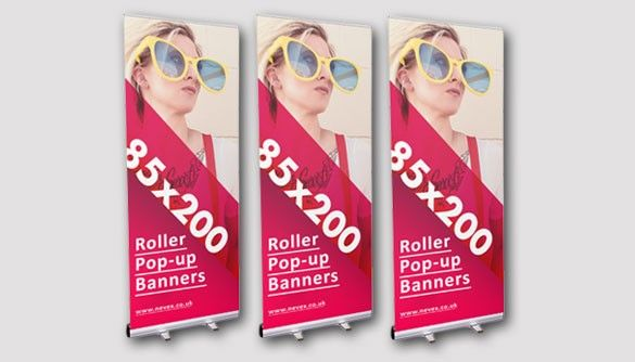 roller -up banner London