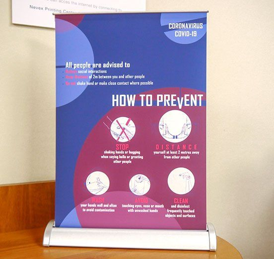 desktop mini roller banner