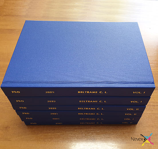 thesis binding Buckram cover