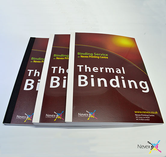 white and black thermal binding